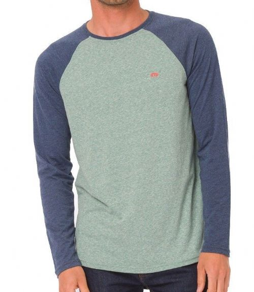 ANIMAL MENS LONG SLEEVED TOP.LOCKETS BLUE/GREEN COTTON CREW T SHIRT TEE 8W 57 P5